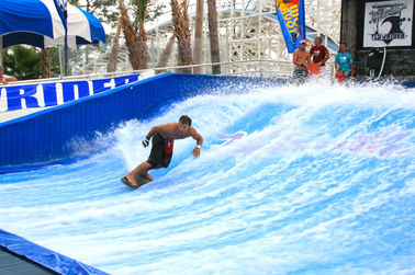 Çin Attraction Flowrider Water Ride , Waterproof Single Rider Wave Skid Board Tedarikçi
