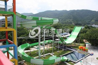 Çin Giant Water Park Equipment Exciting Swwiming Pool Fiberglass Water Slides For Adults in Themed Water Park Tedarikçi