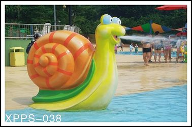 Çin Snail Aqua Play Spray Water Park Equipments 1600mm*750mm For Kids Play Tedarikçi