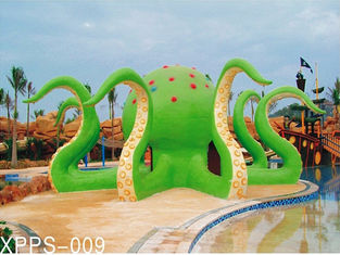 Çin Colorful Octopus Water Playground Equipment 6100*6100*5000 For Family Recreation Tedarikçi
