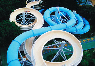 Çin Spiral Waterpark Slide , FRP Water Park Slides / Cuustomized Water Slide for Giant Aqua Park Tedarikçi