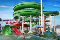 Çin Green Big Commercial Pool Water Slides For Theme Park / Backyard Water Slides Kids şirket
