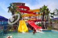 Çin Customized Family Aqua Park Slides Outdoor Fiberglass Water Slide For Amusement Park şirket