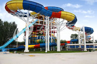 Çin Family Rafting Aqua Park Fiberglass Waterpark Slide 6 Person/time şirket