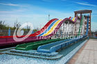Çin Cool Huge Fun Rainbow Water Slides With Custom Length 4 Lanes şirket