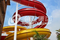 Çin Outdoor Fiberglass Water Slides Custom FRP Spiral Red Water Slides CE şirket