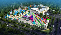 Çin Large Holiday Waterpark Project , Indoor Amazing Funny Water Park / Customized water slide Fabrika
