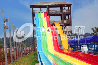 Rainbow Custom Water Slides of Waterpark for Family Water Game