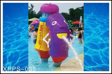 Fiberglass, PVC Kids Recreation Waterpark Equipments, Pencil Spray Park Equipment