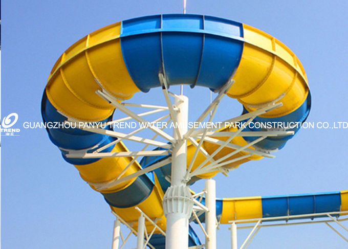 Giant Water Park Equipment Exciting Swwiming Pool Fiberglass Water Slides For Adults in Themed Water Park