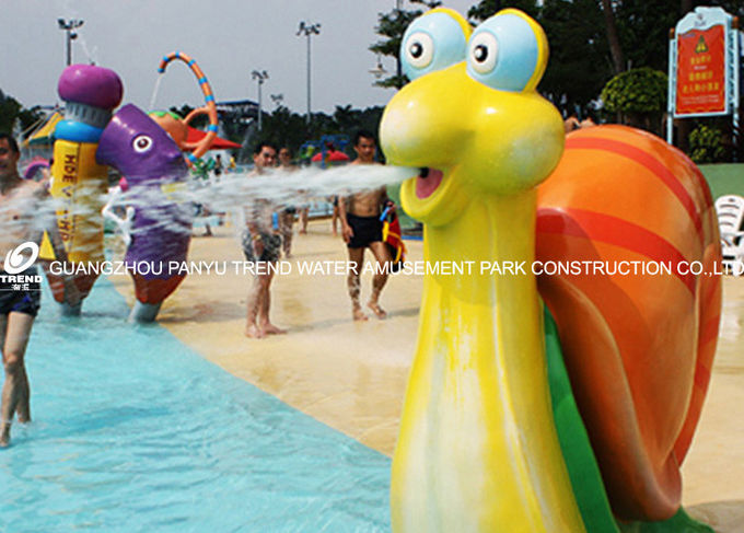 Snail Aqua Play Spray Water Park Equipments 1600mm*750mm For Kids Play