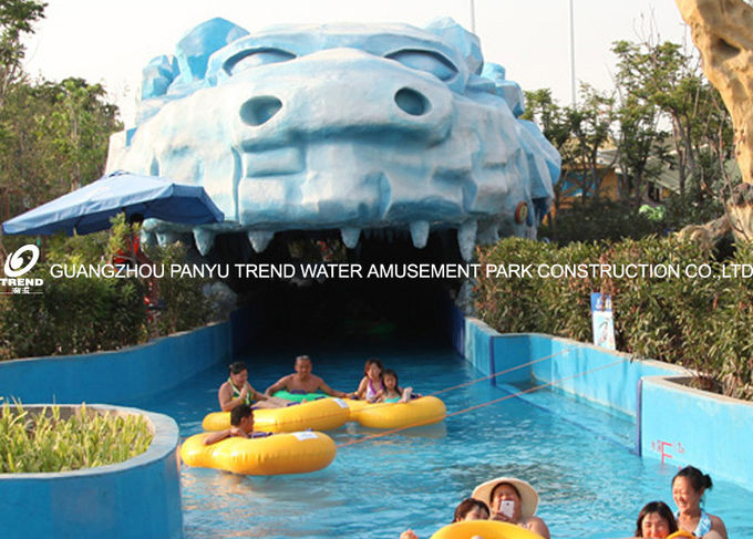Swimming Pool Equipment Water Park Lazy River For Children / Family Fun Amusement Park