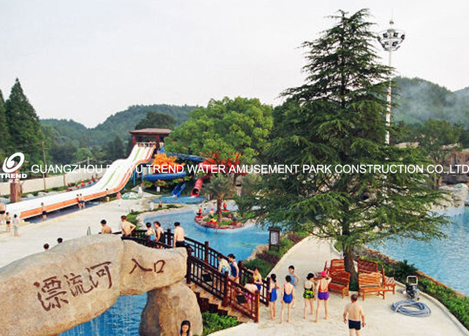 Giant Lazy Swimming Pool Commercial Water Park Equipment For Family
